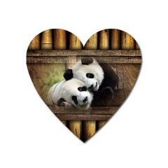 Panda Love Magnet (heart) by TheWowFactor
