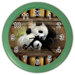 Panda Love Wall Clock (color) by TheWowFactor