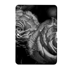 Black And White Tea Roses Samsung Galaxy Tab 2 (10 1 ) P5100 Hardshell Case  by bloomingvinedesign