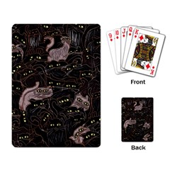 Black Cats Yellow Eyes Playing Cards Single Design by bloomingvinedesign