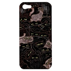 Black Cats Yellow Eyes Apple Iphone 5 Hardshell Case by bloomingvinedesign