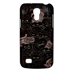 Black Cats Yellow Eyes Samsung Galaxy S4 Mini (gt I9190) Hardshell Case  by bloomingvinedesign