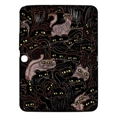 Black Cats Yellow Eyes Samsung Galaxy Tab 3 (10 1 ) P5200 Hardshell Case  by bloomingvinedesign