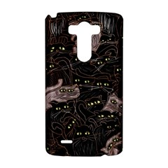 Black Cats Yellow Eyes LG G3 Hardshell Case by bloomingvinedesign
