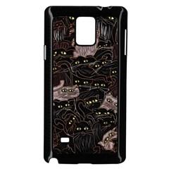 Black Cats Yellow Eyes Samsung Galaxy Note 4 Case (black)