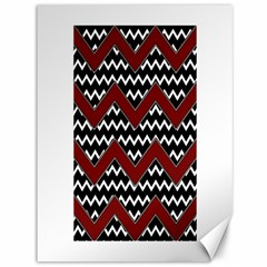 Black White Red Chevrons Canvas 36  X 48  (unframed) by bloomingvinedesign