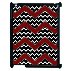 Black White Red Chevrons Apple Ipad 2 Case (black) by bloomingvinedesign