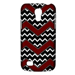 Black White Red Chevrons Samsung Galaxy S4 Mini (gt I9190) Hardshell Case  by bloomingvinedesign