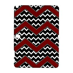 Black White Red Chevrons Samsung Galaxy Note 10.1 (P600) Hardshell Case