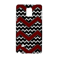 Black White Red Chevrons Samsung Galaxy Note 4 Hardshell Case by bloomingvinedesign