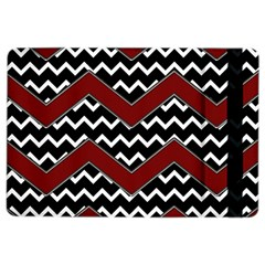 Black White Red Chevrons Apple Ipad Air 2 Flip Case