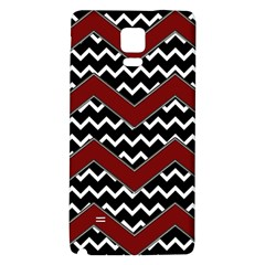 Black White Red Chevrons Samsung Note 4 Hardshell Back Case