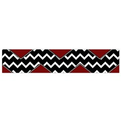 Black White Red Chevrons Flano Scarf (small) by bloomingvinedesign