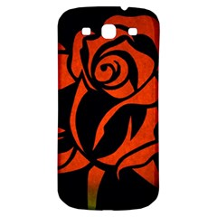 Red Rose Etching On Black Samsung Galaxy S3 S Iii Classic Hardshell Back Case by StuffOrSomething