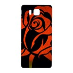 Red Rose Etching On Black Samsung Galaxy Alpha Hardshell Back Case Front