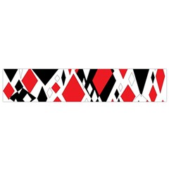Distorted Diamonds In Black & Red Flano Scarf (small) by StuffOrSomething