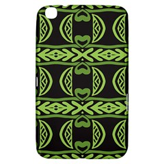 Green Shapes On A Black Background Pattern Samsung Galaxy Tab 3 (8 ) T3100 Hardshell Case  by LalyLauraFLM