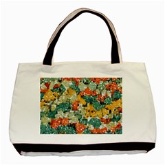 Paint Strokes In Retro Colors Basic Tote Bag by LalyLauraFLM
