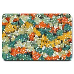 Paint Strokes In Retro Colors Large Doormat by LalyLauraFLM