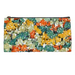 Paint Strokes In Retro Colors Pencil Case