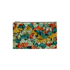 Paint Strokes In Retro Colors Cosmetic Bag (small) by LalyLauraFLM