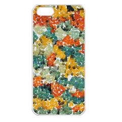 Paint Strokes In Retro Colors Apple Iphone 5 Seamless Case (white) by LalyLauraFLM