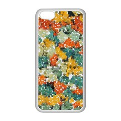 Paint Strokes In Retro Colors Apple Iphone 5c Seamless Case (white) by LalyLauraFLM