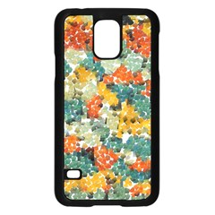 Paint Strokes In Retro Colors Samsung Galaxy S5 Case (black) by LalyLauraFLM
