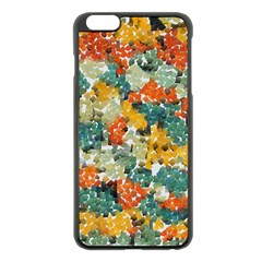 Paint Strokes In Retro Colors Apple Iphone 6 Plus Black Enamel Case by LalyLauraFLM