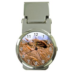 Blowing Prairie Grass Money Clip With Watch by bloomingvinedesign