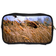 Blowing Prairie Grass Travel Toiletry Bag (one Side) by bloomingvinedesign