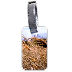 Blowing Prairie Grass Luggage Tag (two Sides) by bloomingvinedesign