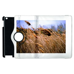 Blowing Prairie Grass Apple Ipad 2 Flip 360 Case by bloomingvinedesign