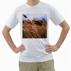 Blowing Prairie Grass Men s T Shirt (white)  by bloomingvinedesign