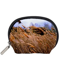 Blowing Prairie Grass Accessory Pouch (small) by bloomingvinedesign