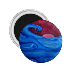 Blown Ocean Waves 2 25  Button Magnet by bloomingvinedesign