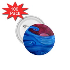 Blown Ocean Waves 1 75  Button (100 Pack) by bloomingvinedesign