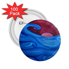 Blown Ocean Waves 2 25  Button (100 Pack) by bloomingvinedesign