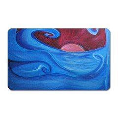 Blown Ocean Waves Magnet (rectangular) by bloomingvinedesign