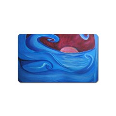 Blown Ocean Waves Magnet (name Card) by bloomingvinedesign