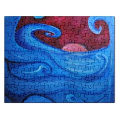 Blown Ocean Waves Jigsaw Puzzle (rectangle) by bloomingvinedesign