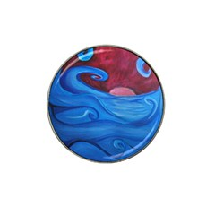 Blown Ocean Waves Golf Ball Marker 10 Pack (for Hat Clip) by bloomingvinedesign
