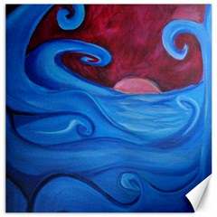 Blown Ocean Waves Canvas 16  X 16  (unframed) by bloomingvinedesign