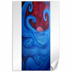 Blown Ocean Waves Canvas 24  X 36  (unframed) by bloomingvinedesign