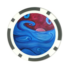 Blown Ocean Waves Poker Chip by bloomingvinedesign