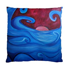 Blown Ocean Waves Cushion Case (two Sided)  by bloomingvinedesign