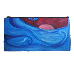 Blown Ocean Waves Pencil Case by bloomingvinedesign