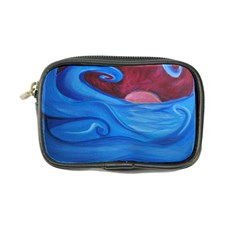 Blown Ocean Waves Coin Purse by bloomingvinedesign