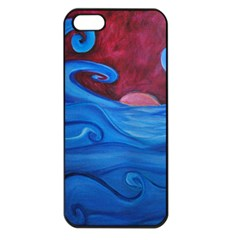 Blown Ocean Waves Apple Iphone 5 Seamless Case (black) by bloomingvinedesign