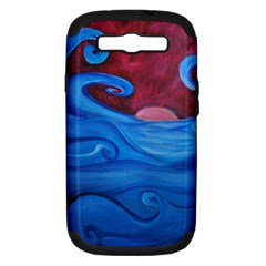 Blown Ocean Waves Samsung Galaxy S Iii Hardshell Case (pc+silicone) by bloomingvinedesign
